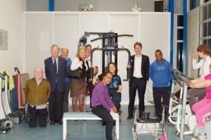 Nieuwe fitness apparaten met dank aan sponsoring door NIBC bank