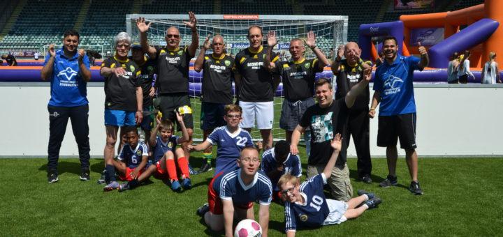 Stadsspelen met Kameleon voetbalteam Den Haag