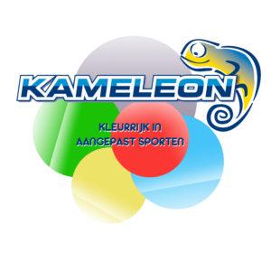 Kameleon kleurrijk in aangepast sporten